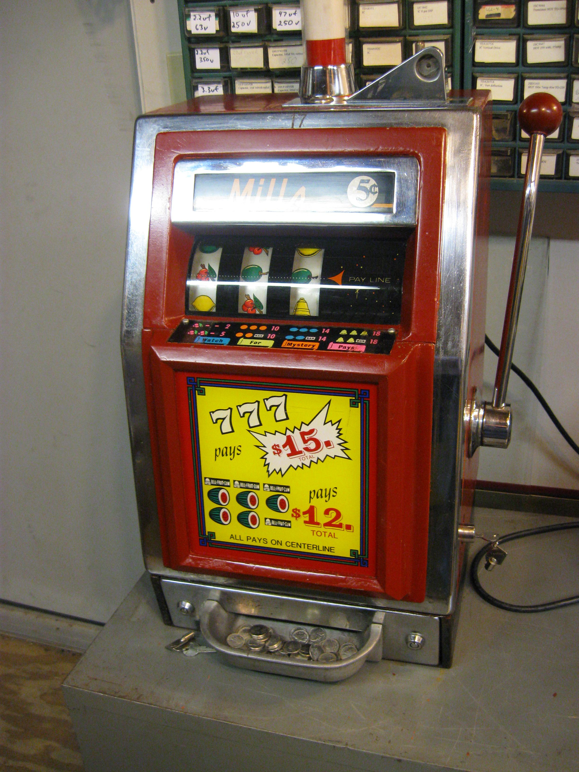 "Mill's Slot Machine ""777"" from the early 60's ? - Click Image to Close"